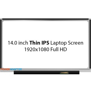 14.0 inch Thin eDP IPS 30-PIN Scherm Full HD No Brackets Glossy